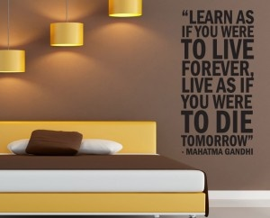 Learn as if you were to live forever