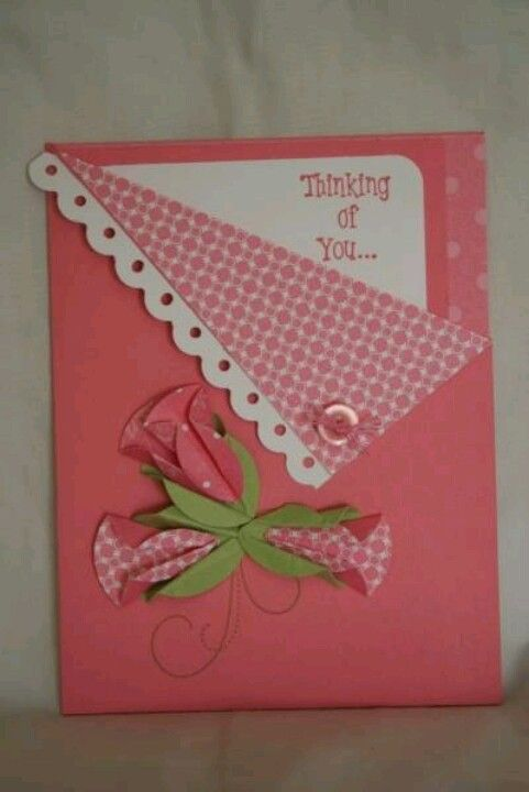 Card:Thinking of you, Get well soon, Girl baby announcement, etc. Good idea.