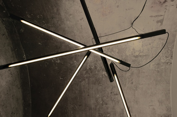 SHANGAI  steel lamps. BLANCO. Carpi. Design by AMORFO STUDIO