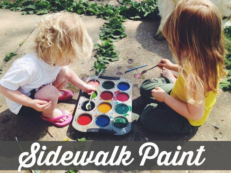3-Ingredient Sidewalk Paint