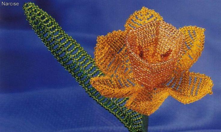 Flori decorative din margele I - Narcise