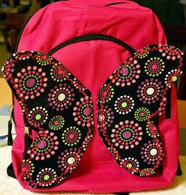 Make a butterfly backpack