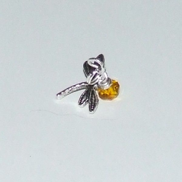 #Outlander Dragonfly in Amber Pewter Dragonfly on an Amber Crystal!  $10