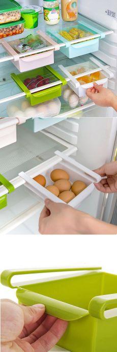 Диу # слайд кухня холодильник морозильник организатор пространстве заставки для хранения стойке Holde ящика бесплатная доставка купить на AliExpress