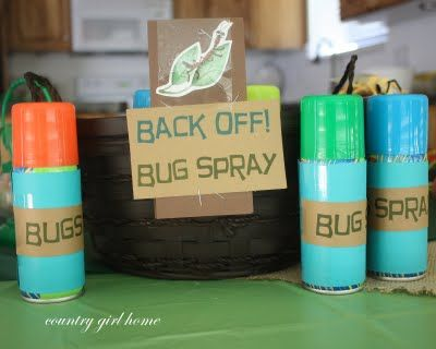 Bug Off Spray - ( silly string) kids would have a blast with this at an outdoor event