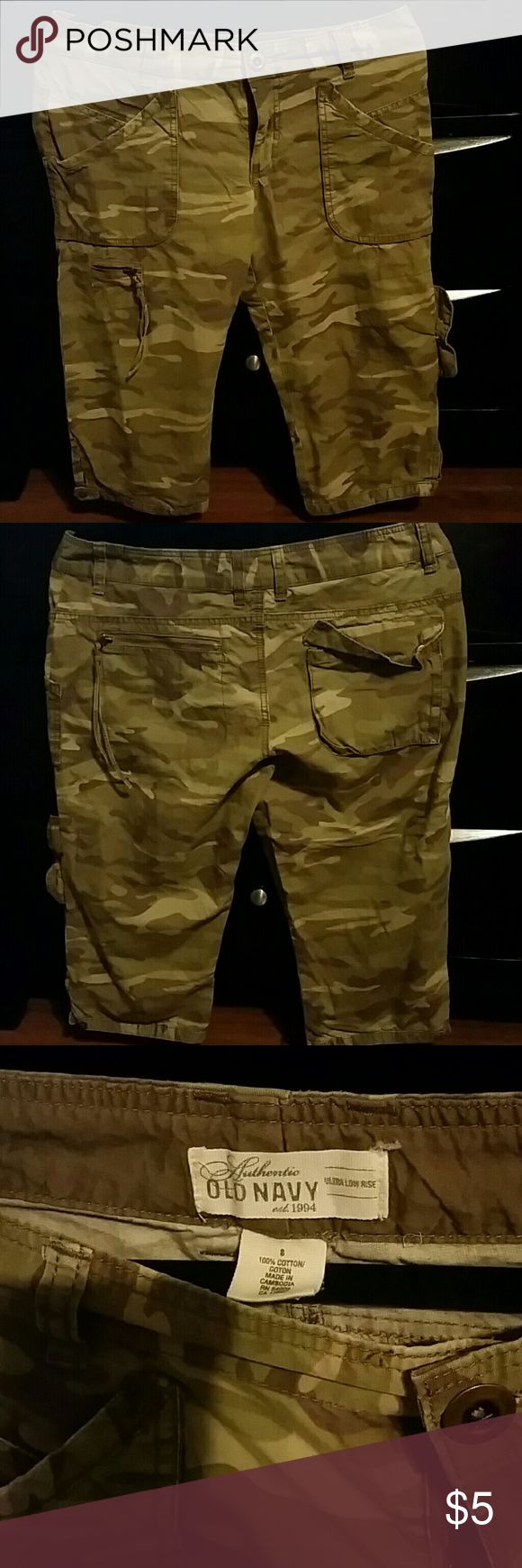 Cargo camo shorts Old Navy cargo camouflage shorts Old Navy Shorts Cargos