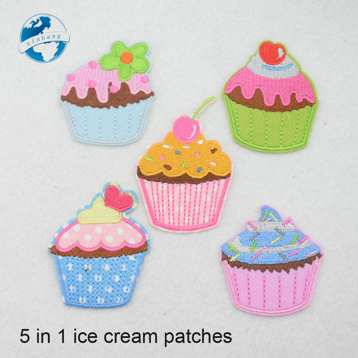 Cheap patch iron on, Buy Quality iron on patches directly from China iron on Suppliers: 5 in 1 embroidery 3D  ice cream patches iron on patch set for clothing jeans badge for clothes badge applique badges#3561