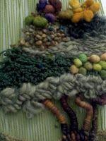 fiber art tree detail