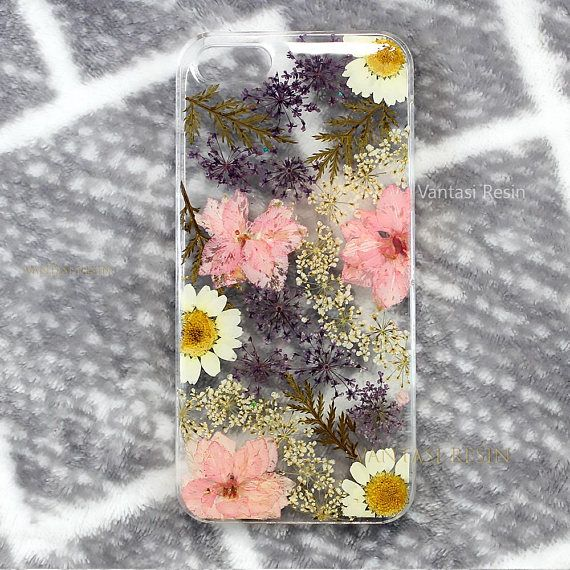 iphone X  pressed flower iphone 6s case iphone 6 case clear