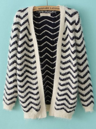 Fun Chevron Carnigan Sweater for layering