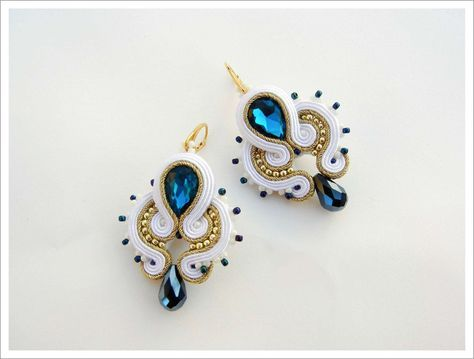 Chandeliers - Soutache Earrings 123 Jasmina - ein Designerstück von AdityaDesign bei DaWanda
