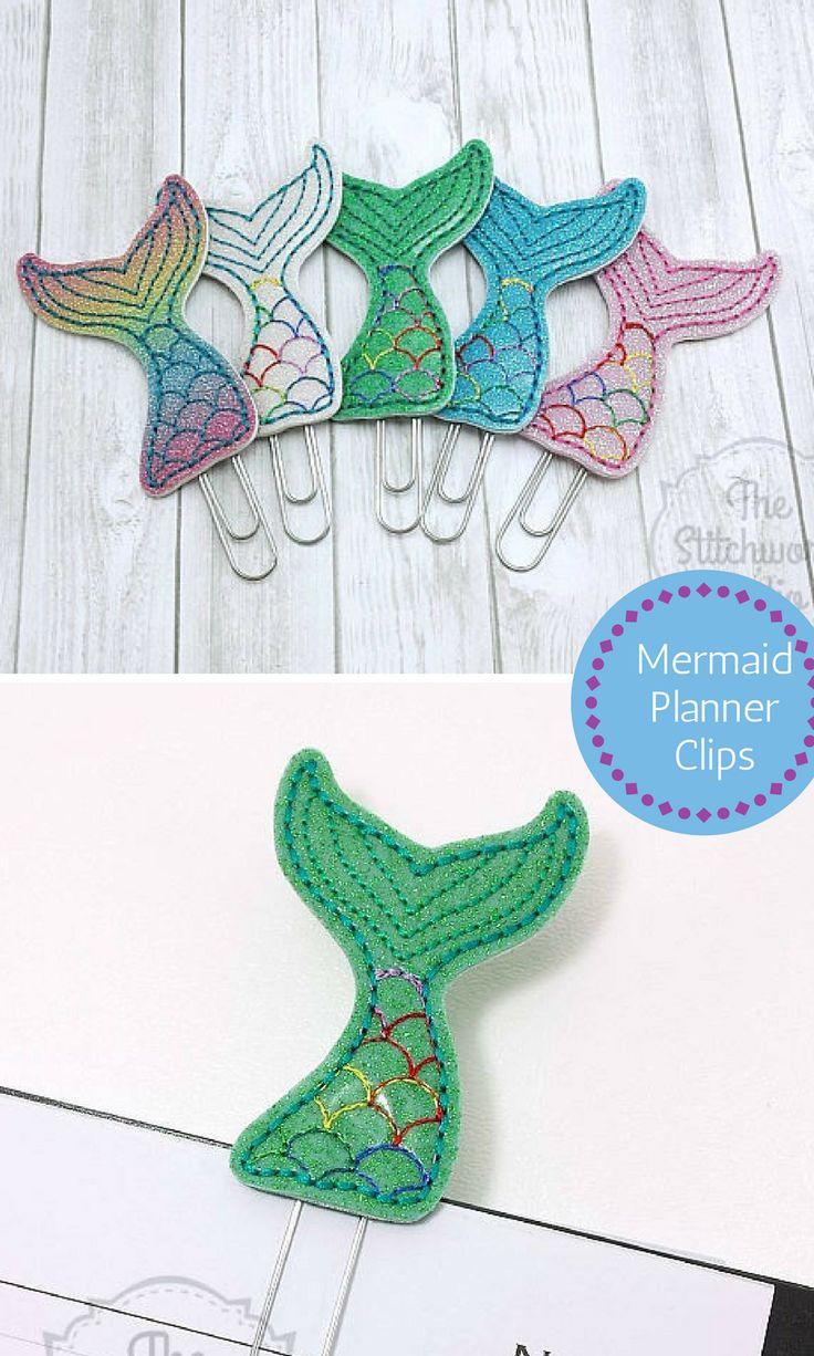 Mermaid Planner Clip Paperclip Bookmark Mermaid Tail