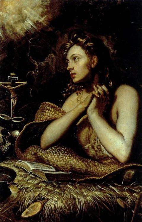Tintoretto, Maddalena, 1598. My favorite Ren artist. LOVE the Venetian school!!!