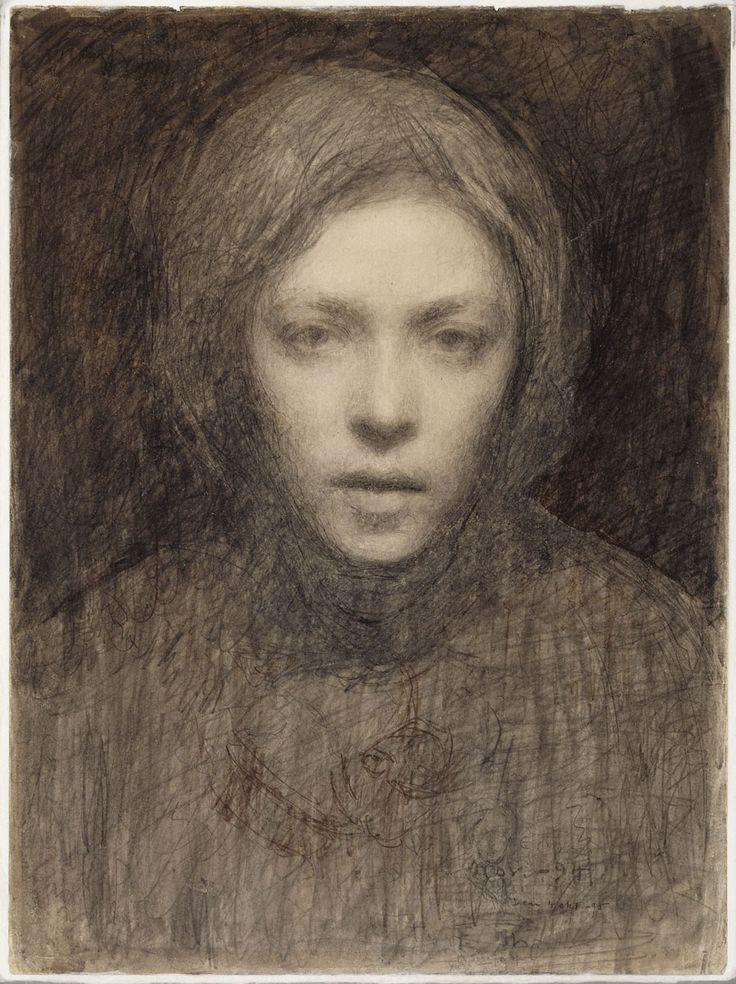 Ellen Thesleff: Omakuva, 1894-1895. Ateneumin taidemuseo. Kuva: Kansallisgalleria / Hannu Aaltonen