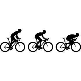 Evolution Rennrad Haltungen - Drei Haltungen beim fahren eines Rennrades vom Wiegetritt bist hin zur klassischen Abfahrtshaltung.