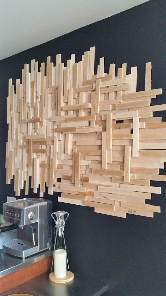 fabriquer déco murale lattes de bois