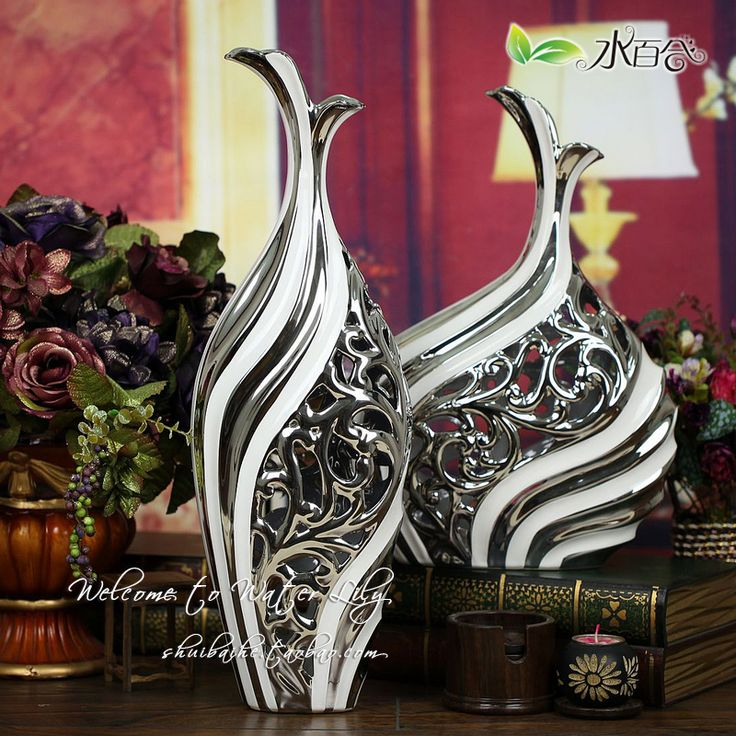 Unique Gifts Jingdezhen Ceramic Crafts Decoration Large Floor Vase Home  Decoration White Modern Lucky Gifts(
