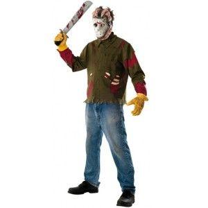 Déguisement Jason Vendredi 13 adulte (FRIDAY THE 13TH) avec masque et machette licence, Halloween