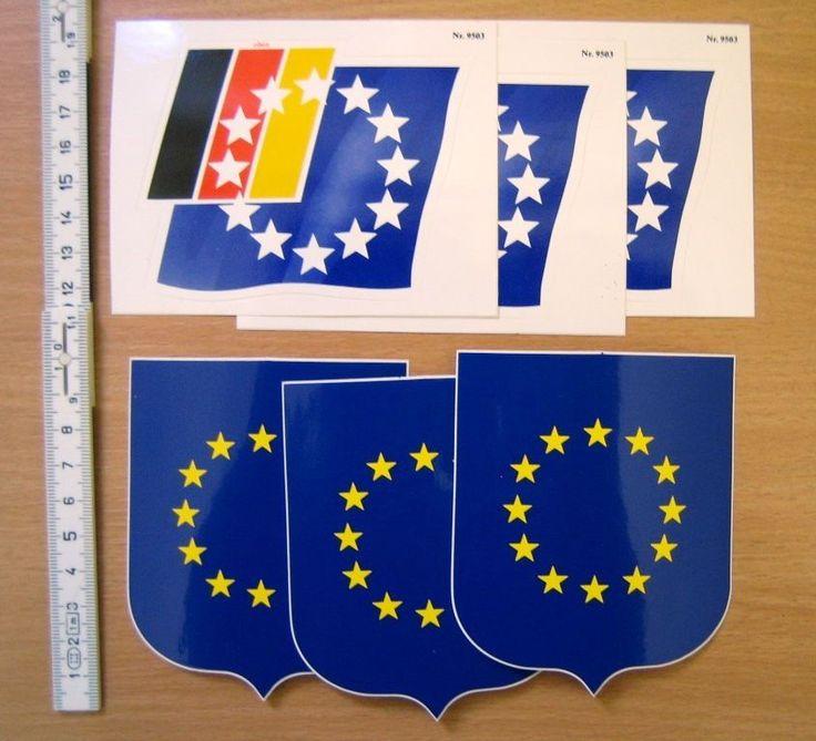 Aufkleber EUROPA Fahne Wappen Logo Deutschland BRD Wahlen Wahl Sticker