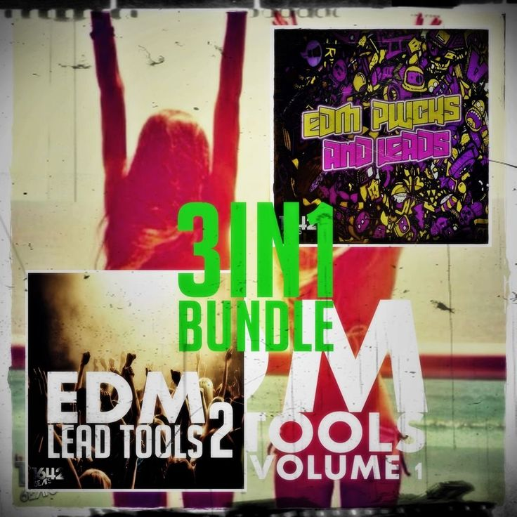 SALE! EDM LEAD TOOLS 3in1 BUNDLE (16-Bit WAV LOOPS / SAMPLES) ABLETON FL STUDIO