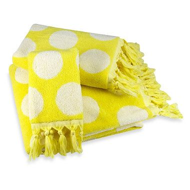 Buy Polly Yellow Fingertip Towel from Bed Bath & Beyond