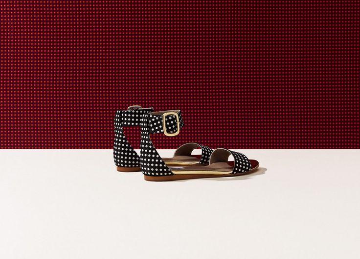 Primavera Black Gold with White spots Italian sandals