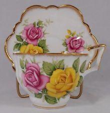 Vintage Royal Ardalt Bone China Made in England Tea Cup and Saucer Set