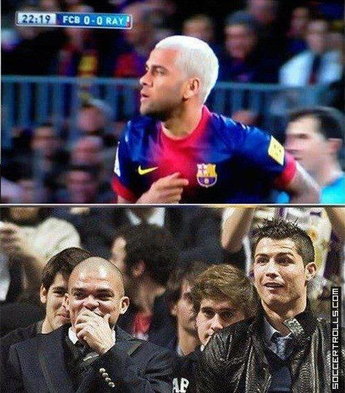 The verdicts out on Alves' new hairstyle.