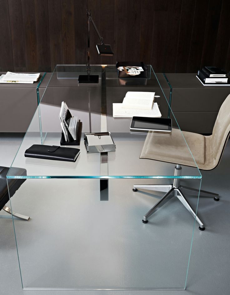 Crystal writing desk AIR DESK 1 - @gallottiradice · Office TableOffice  DesksOffice SpacesHome OfficeGlass ... - 25+ Best Ideas About Glass Desk On Pinterest Glass Office Desk