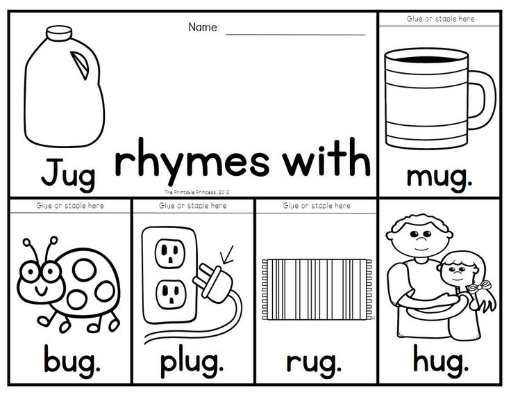 154 Best Phonic Awareness Rhyming Images On Pinterest Rhyming - rhyming words coloring pages
