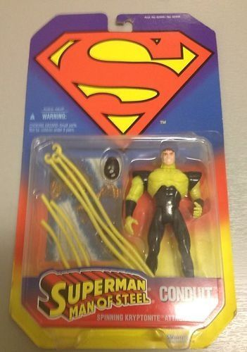 """Superman Man of Steel Conduit 5"""" Action Figure with Spinning Kryptonite Attack"""