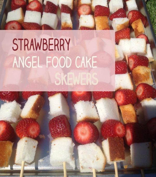 ... angel food cake apricots and herbed strawberries with angel food cake