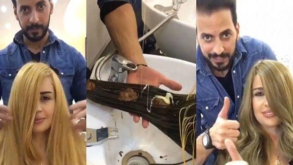 Από ξανθιά σε καστανή με Nutella!! Κομμωτής χρησιμοποιεί σοκολάτα για να αλλάξει χρώμα στα μαλλιά