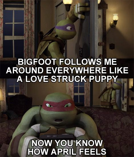 Now You Know How April Feels #tmnt #donnie #raph