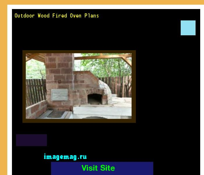 wood fired oven plans pdf
