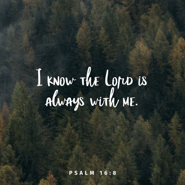 """I always remember that the Lord is with me. He is here, close by my side, so nothing can defeat me."" ‭‭Psalms‬ ‭16:8‬ ‭ERV‬‬ http://bible.com/406/psa.16.8.erv"