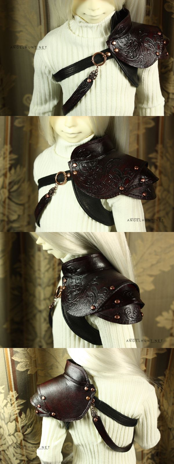 Scrolled Pauldron by Nezumi-chuu.deviantart.com on @deviantART ...I wanna learn how to make these!!