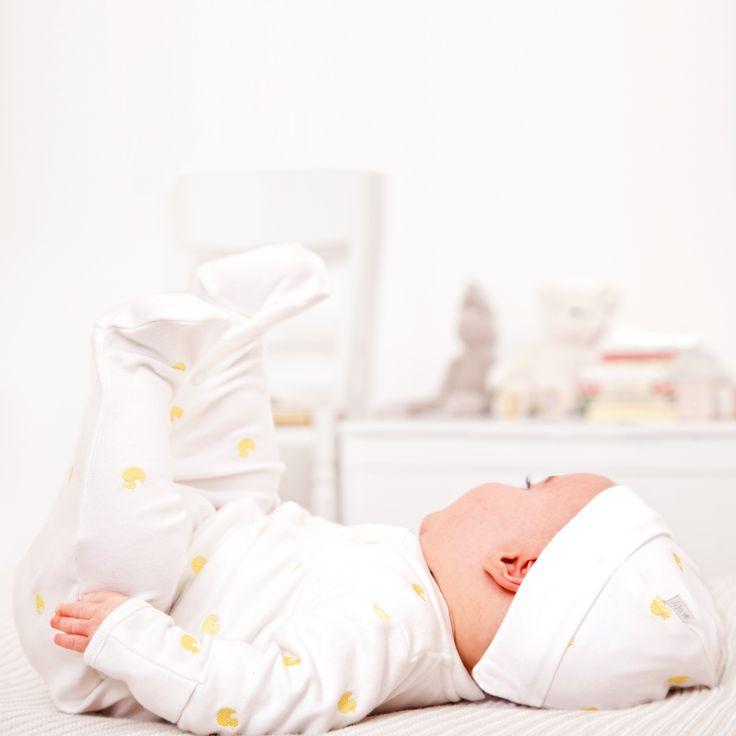 JoJo Maman Bebe   Embroidered Duck Baby Sleepsuit   #jojosleepsuit