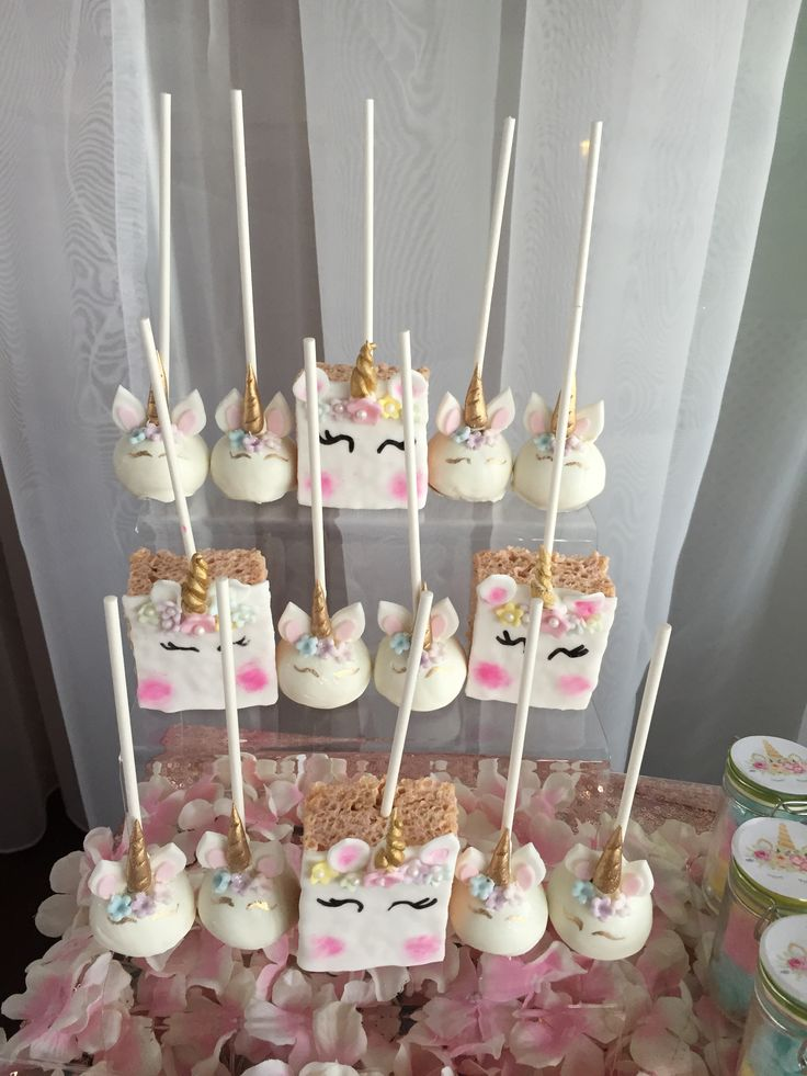 Unicorn Party Cake Dessert Table Decor Pastel Pastel