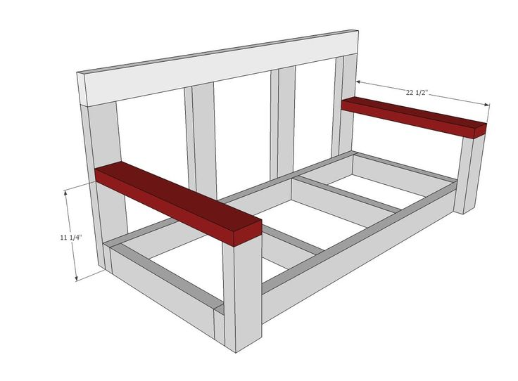 Ana white build a shanty2chic porch swing free and for Easy porch swing