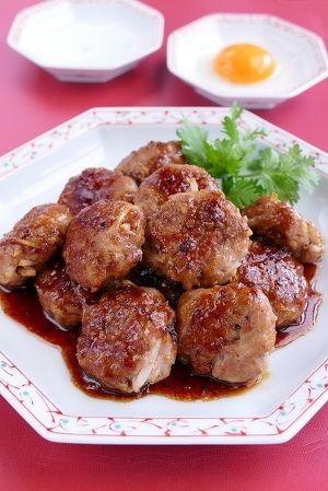 シャキシャキ新食感もやしの豚つくね by 長岡美津恵akai-salad ... 器に盛り、お好みで卵黄を付けて頂きましょう。