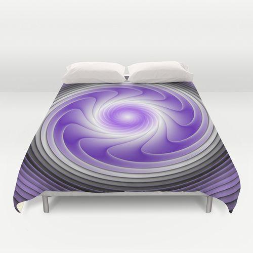 The Power of Purple Digital Art Duvet Cover