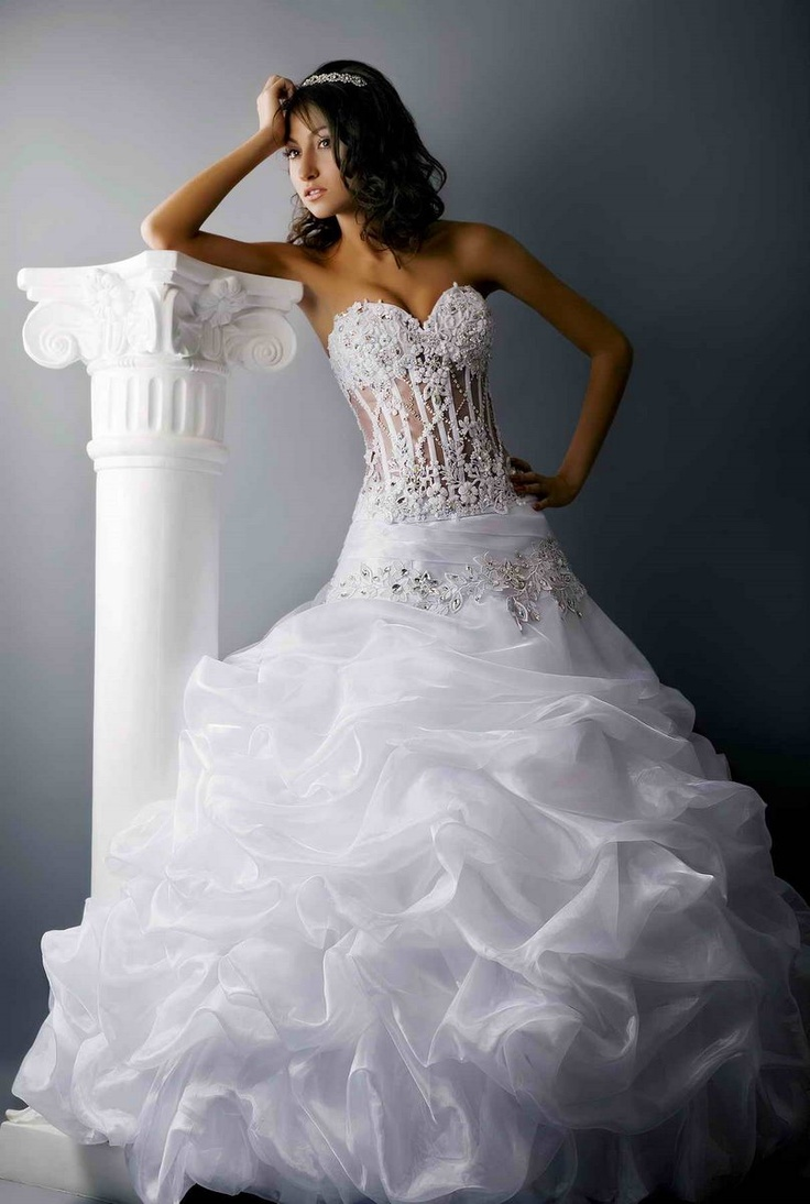 Love see through corsets for See through corset top wedding dress