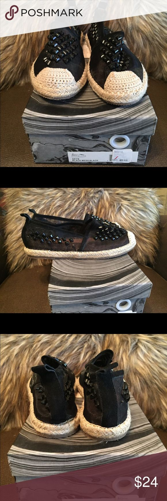 Jeffrey Campbell espadrille flats! Adorable black espadrilles with gorgeous detail. Worn once. (Two little spikes missing but you can't even tell!) Jeffrey Campbell Shoes Espadrilles