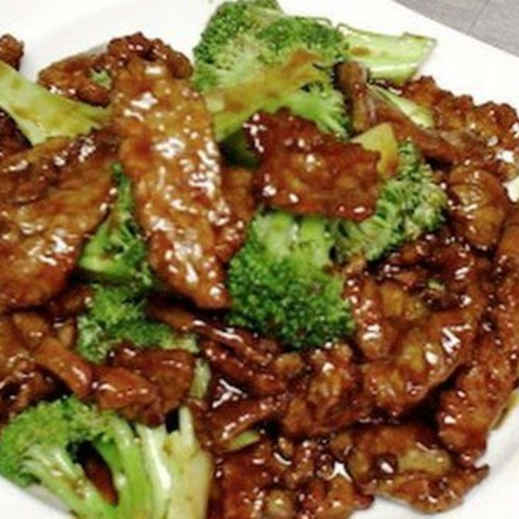 Crock Pot Beef and Broccoli. Absolutely delicious. Just if you're planning on having leftovers, only add in as much broccoli as you want to have for the first meal. The leftovers with day-old cooked broccoli aren't that great. Other than that, this is perfection.