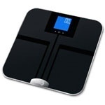 The EatSmart Precision GetFit Digital Body Fat Scale has a 400 pound weight limit, and also has the step on technology so no more waiting for the zeros to pop up. You can purchase the EatSmart Precision GetFit Digital Body Fat Scale on amazon for $54.95 which has free shipping. http://computer-s.com/bathroom-scales/bathroom-scale-reviews/
