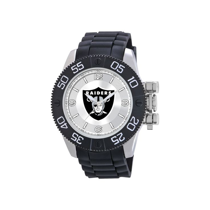 Men's Game Time Oakland Raiders Beast Series Watch - Black