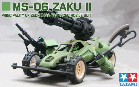 Zaku II Four Wheels Drive By Gm2085 | Gundam Century