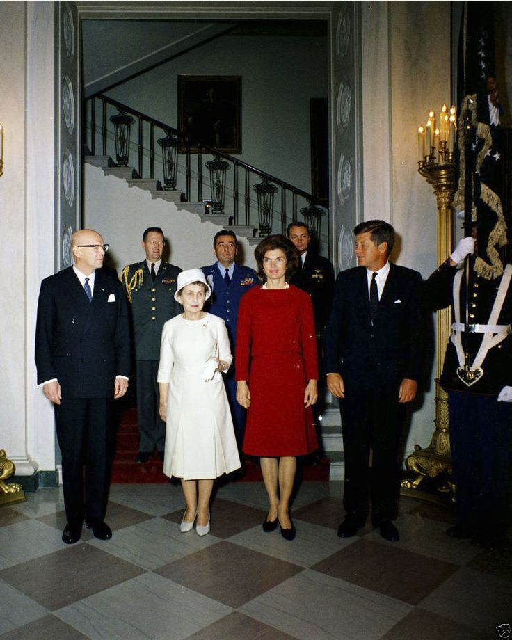 President John F. Kennedy And Jacqueline Kennedy, Wearing