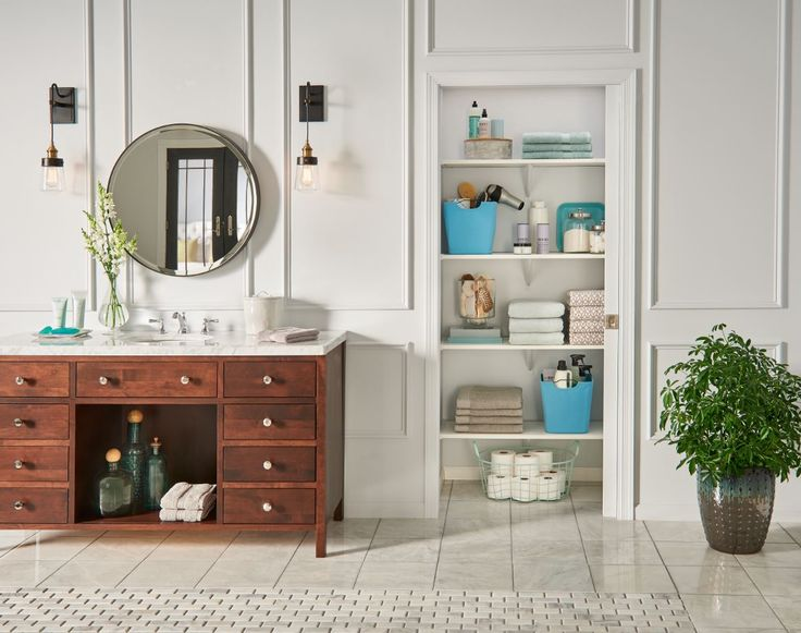 freshen up your linen and bathroom closets this summer with expressshelf from closetmaid installs. beautiful ideas. Home Design Ideas